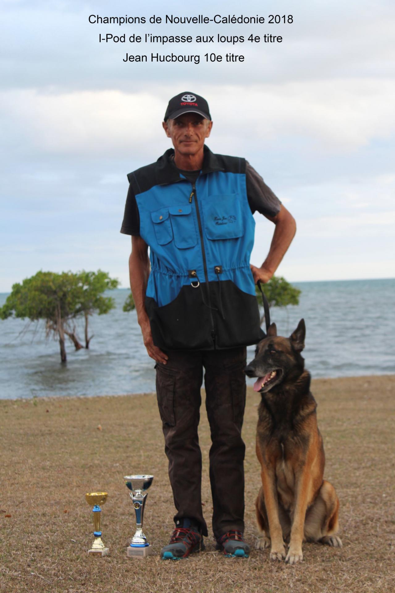 Jean Hucbourg et IPod de l'impasse aux loups - Champions de Nouvelle Calédonie 2018 RING 2
