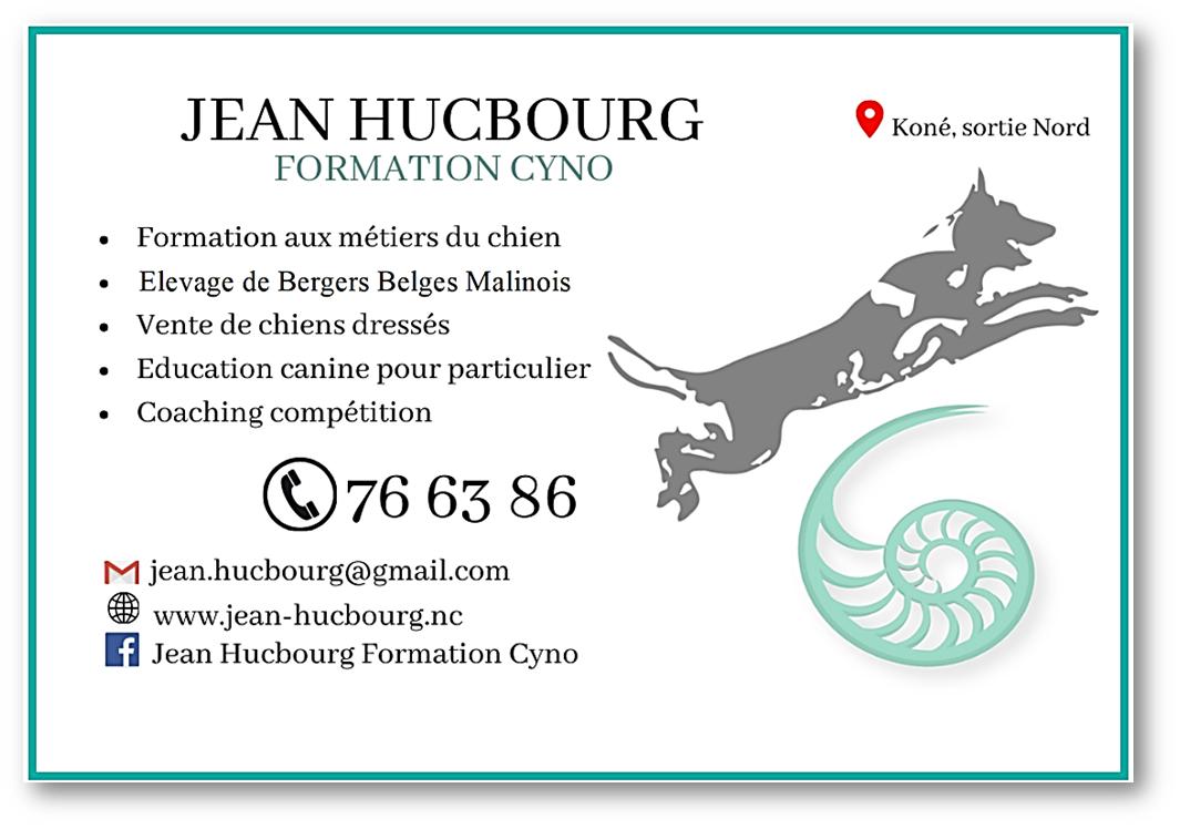 Jean hucbourg formation cyno carte de visite